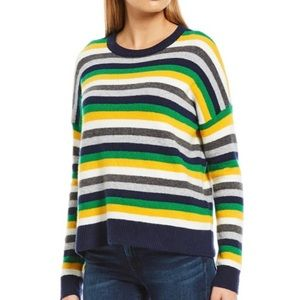 Court & Rowe Ivy League Wool Blend Striped Sweater